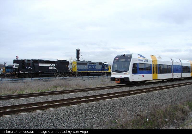 NJT 3507, NS 5223, & CSX 4451