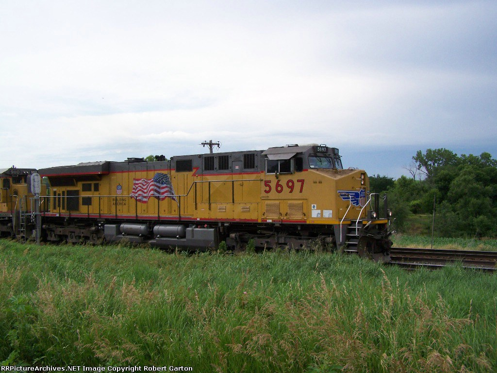 UP 5697 in All its Star-Spangled Glory