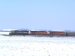 Southbound Empties Idle on a Siding North of Town