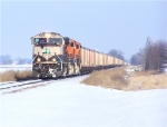 BNSF 9602 Leads Empties South