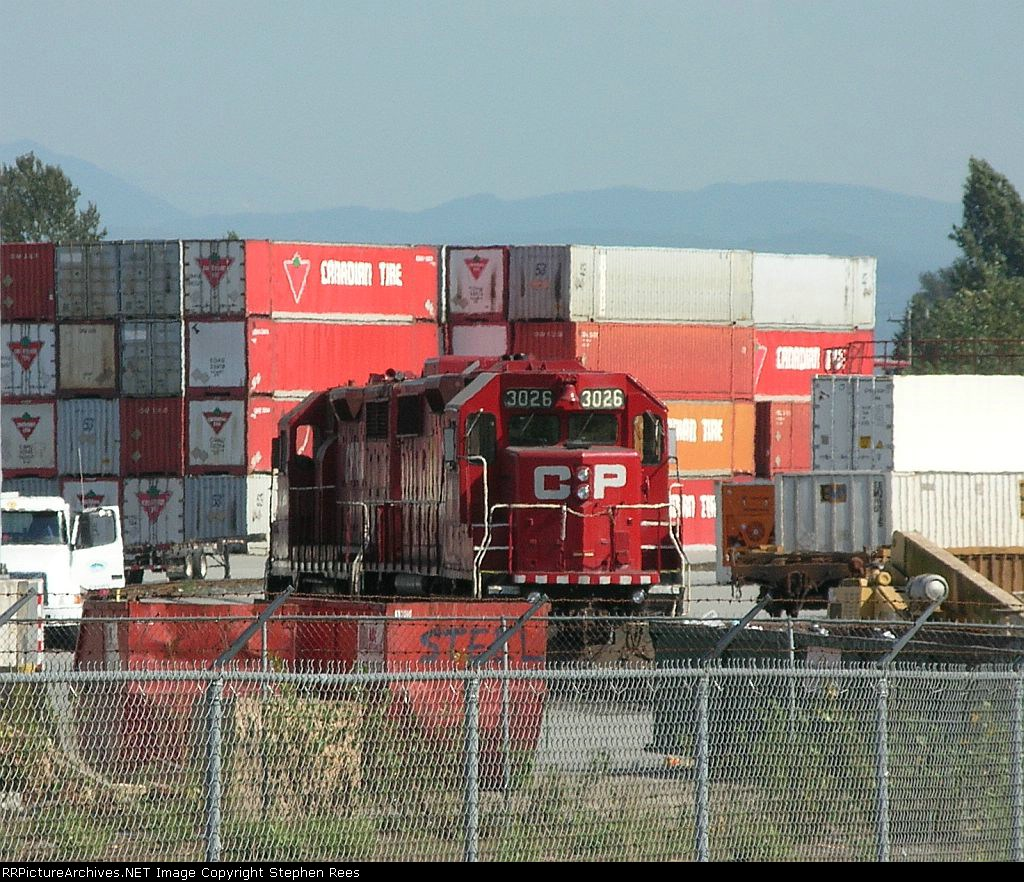CP 3026 and pal hiding in the intermodal terminal