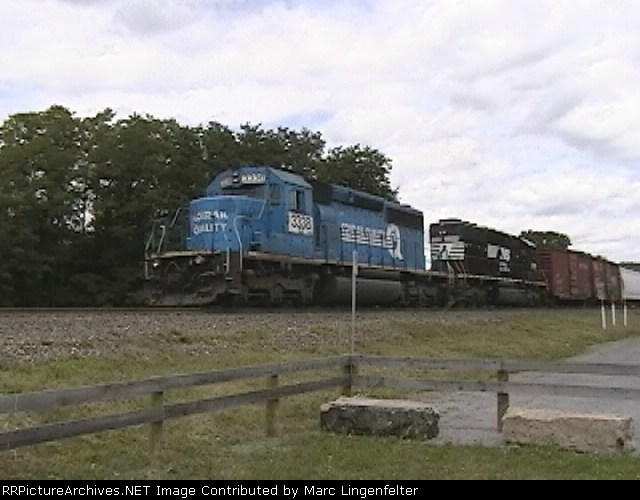 NS 3338 and 3359 pushing the eastbound