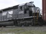 NS 3359 helping a heavy eastbound