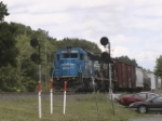 NS 3338 and 3359 moving through MO
