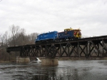 The Santa Special crossing the Muskegon River
