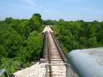Rolling northward onto the bridge over the Big Sable River