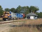 Z151-24 starting south past the depot