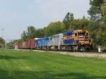 3001, 3002, 2676 & 2648 rolling south past Milepost 20 with Z151