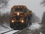 The 2007 Santa Express heads north through the falling snow