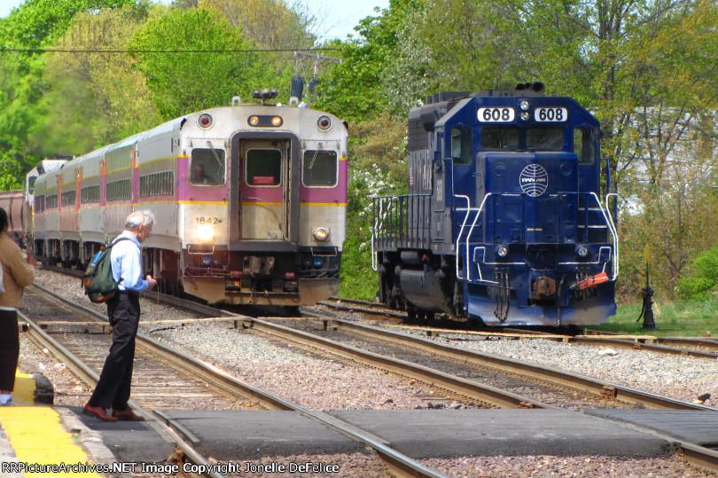 Inbound MBTA Passes Pan Am Local