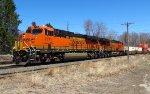BNSF Power oon Pan Am Southern Train 23K