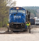 Ex-Conrail Power for Pan Am Southern Train AYMO