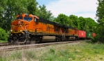 BNSF Power on Pan Am Southern Train AYMO