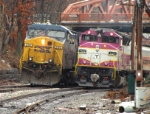 CSX Power & Inbound MBTA Commuter Train