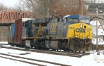 CSX 608 leads WASE into Hill Yard
