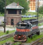 Guilford/MEC #316 by the old B&M Tower