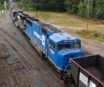 The day's empty coal train