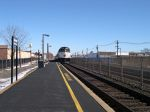 NJ Transit Engine Number 4128 Passes Garwood Station