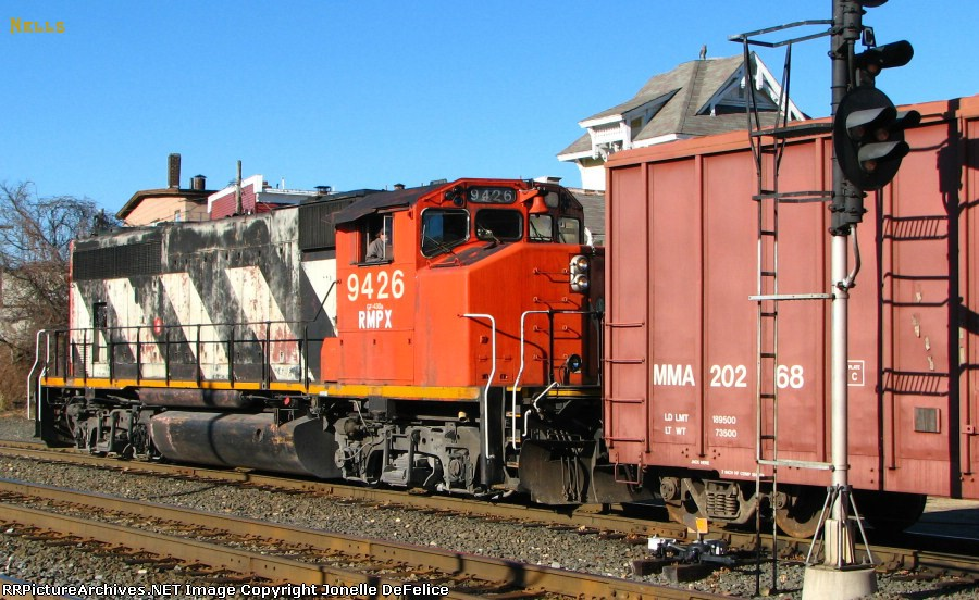 ex-CN engine on the New England Central