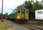 Passenger Train Arrives at