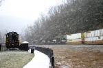 Westbound freight on Horseshoe Curve