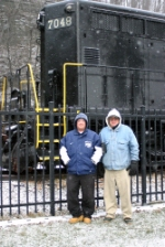 Me (on left) and my dad at Horseshoe Curve