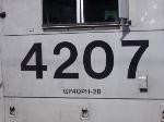 NJT 4207 Locomotive # Closeup