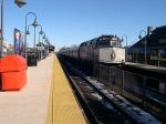 NJ Transit Engine Number Pushes A Northbound Train To Newark