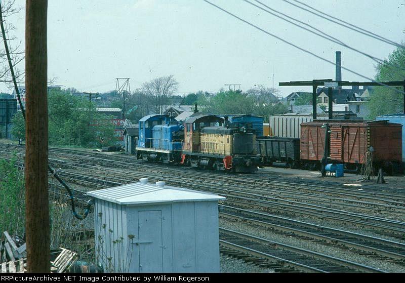 Boston and Maine Railroad EMD SW8 No. 804 and SW1 No. 1132