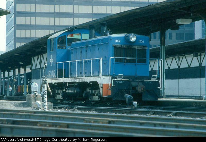 Boston and Maine Railroad EMD NW2 No. 1206