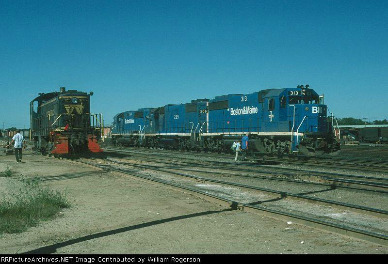 "Boston and Maine Railroad EMD GP40-2 No 313, GP38-2 No. 209, ""Styles Bridges"" and GP40-2 No. 304"