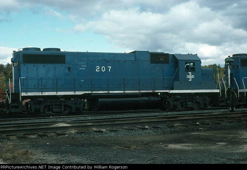 Boston and Maine Railroad EMD GP38-2 No. 207