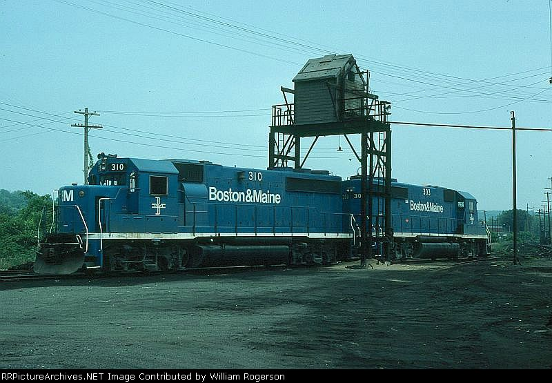 Boston and Maine Railroad EMD GP40-2's No. 310 and No. 303