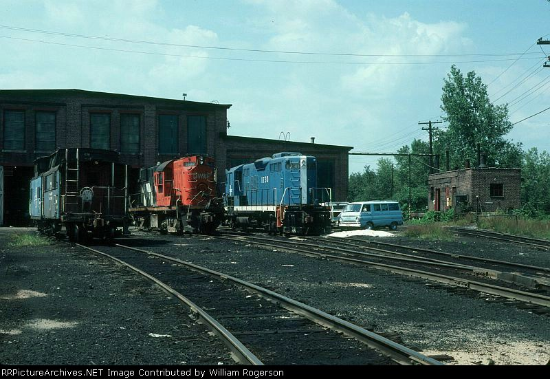 View of the Boston and Maine Railroad Shops
