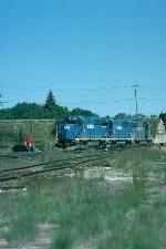 Boston and Maine Railroad EMD GP40-2's No. 307, No. 315 and No. 310