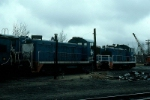 Boston and Maine Railroad EMD SW8 No. 806 and SW1 No. 1126