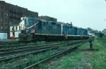 Boston and Maine Railroad EMD GP9's No. 1737, No. 1734 and No. 1736