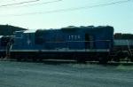 Damaged Boston and Maine Railroad EMD GP9 No. 1725