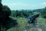 "Boston and Maine Railroad Mixed Freight Train ""Extra 202 East"", with EMD GP38-2 No. 202 in the lead,"