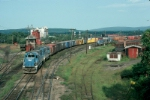 "Boston and Maine Railroad Mixed Freight Train ""BOSE"", with two EMD GP40-2's providing power,"