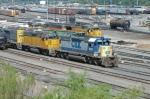 CSX 8037 West arrives at UPs Centennial Yard