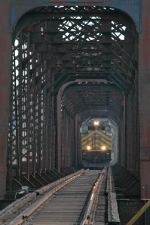 KCS 4008 South crosses the Red River Bridge