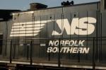 NS logo on side of GE Dash 9