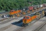 BNSF trains at the northbound fuel racks 