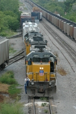 UP southbound freight enters Ney Yard