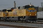 UP 8446 departs Centennial Yard
