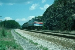 "Southbound Amtrak Train No. 48, the ""Lake Shore Limited"" with EMD F40PHR No. 251 in the lead"