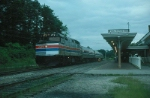 """Amtrak Train No. 174, the """"Colonial"""" with EMD F40PH No. 272 in the lead"""