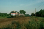 """Northbound Amtrak Train No. 66, the """"Hilltopper"""" with EMD F40PH No. 275 in the lead"""