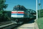 """Northbound Amtrak Train No. 174, the """"Colonial"""" with EMD F40PH No. 271 arrives"""